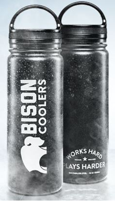 Picture of Bison Bottle – 18 oz. Stainless Steel