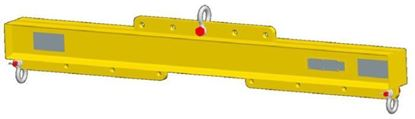 Picture of Adjustable Length Lifting Beams with Shackle bottoms